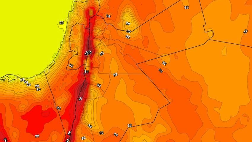 الخميس | كتلة هوائية حارة نسبياً تؤثر على المملكة وارتفاع كبير على درجات الحرارة