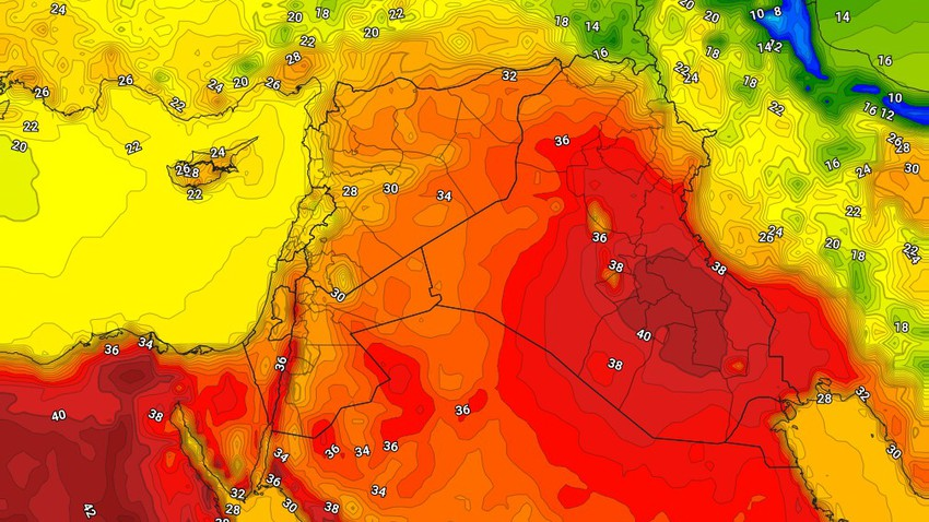 Syria | Relatively hot to hot wednesday, with brisk winds in the afternoon