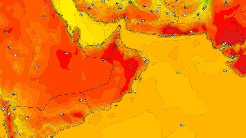 عُمان   انخفاض اضافي على درجات الحرارة الأربعاء