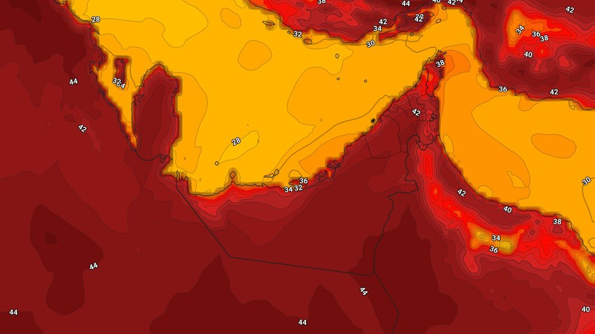 الإمارات | طقس شديد الحرارة الثلاثاء ودرجات الحرارة حول مُعدلاتها لمثل هذا الوقت من العام