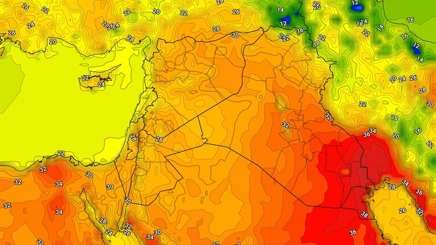 العراق   انخفاض على درجات الحرارة الأربعاء وتراجع على رقعة الأحوال الجوية غير المُستقرة
