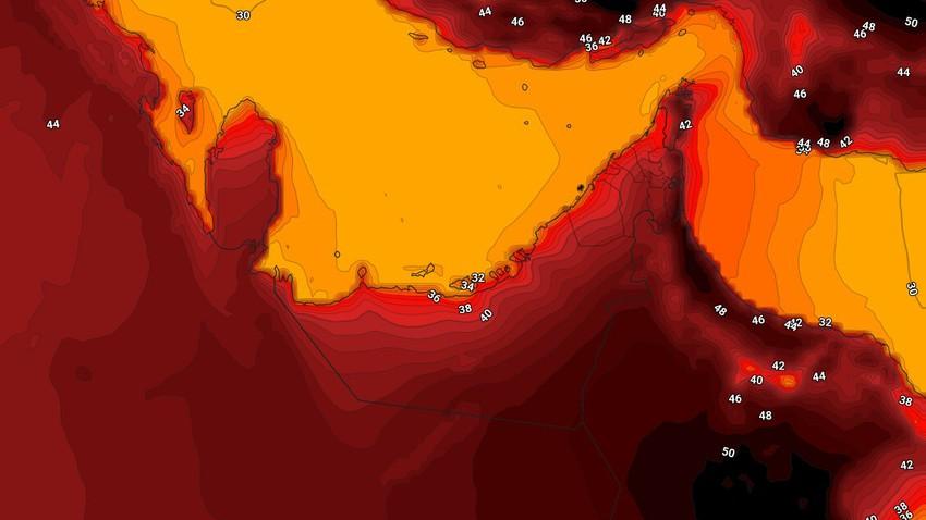 الإمارات | ارتفاع على درجات الحرارة الإثنين واستمرار هبوب الرياح الشمالية الغربية