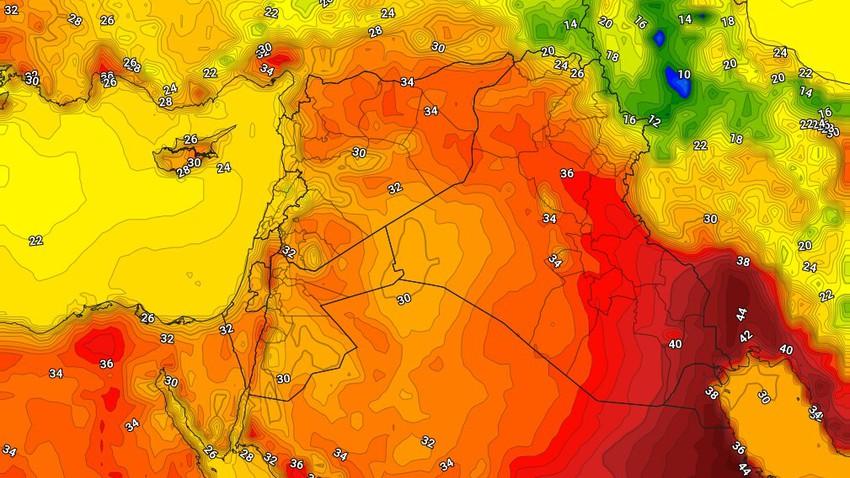 العراق | درجات الحرارة اقل من مُعدلاتها منذ فترة طويلة واحوال جوية غير مُستقرة يوم الثلاثاء