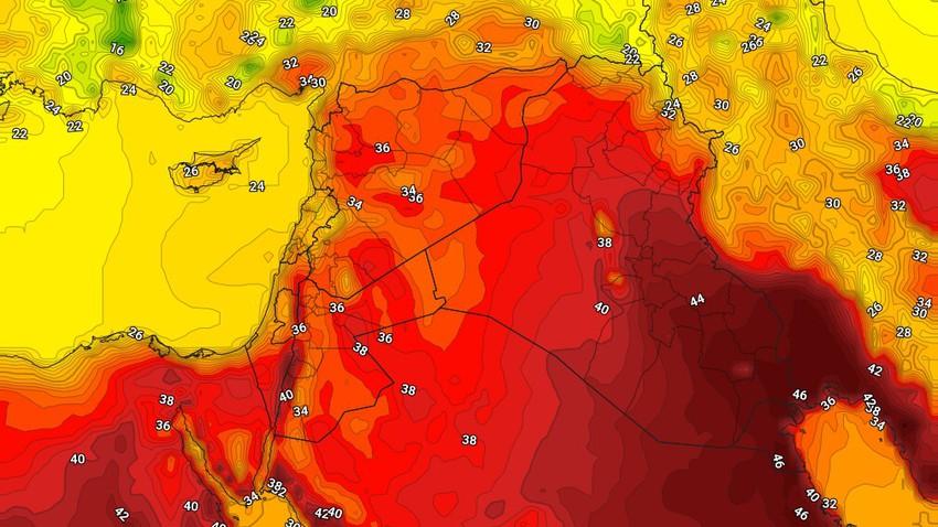 العراق   انخفاض قليل على درجات الحرارة الإثنين مع اشتداد في سرعة رياح البوارح على بعض المناطق