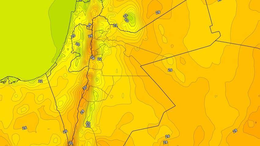 الثلاثاء | ارتفاع طفيف على درجات الحرارة مع بقاء الاجواء ربيعية مُعتدلة