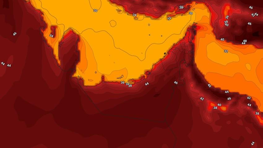 الإمارات | انخفاض على درجات الحرارة الثلاثاء لتصبح اقل من مُعدلاتها بقليل وضباب في مناطق عدة ليلاً