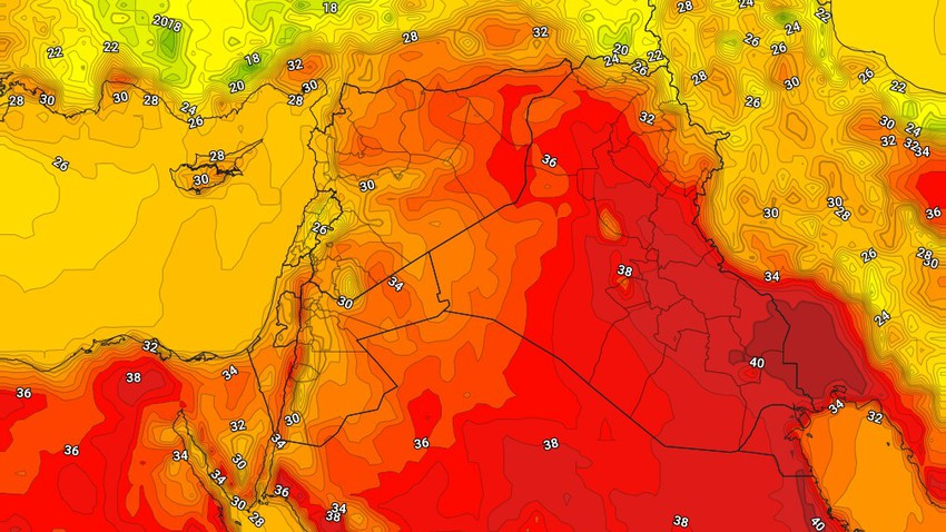 Iraq   Temperatures continued below their average, with wind speed activity on Wednesday