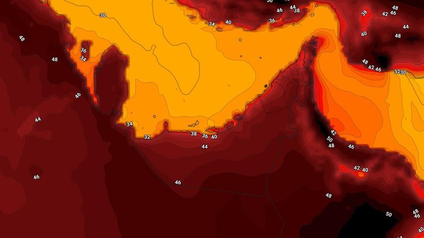 الإمارات | ارتفاع على درجات الحرارة لتتجاوز مُنتصف الأربعين مئوية في بعض المناطق