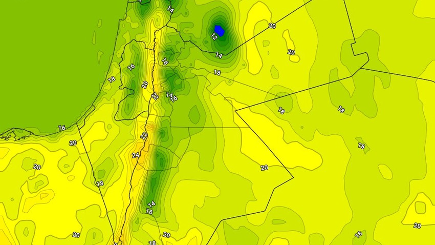 Saturday | Relatively cold weather with the emergence of low clouds