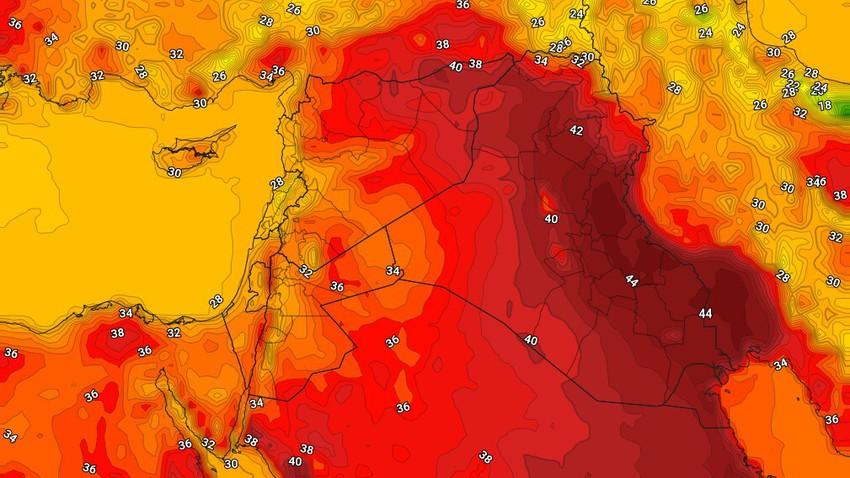 العراق | بقاء درجات الحرارة حول لأقل من مُعدلاتها الأربعاء