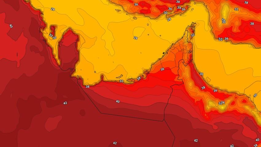 الإمارات | طقس حار الإثنين ونشاط على سرعة الرياح الشمالية الغربية بعد الظُهر