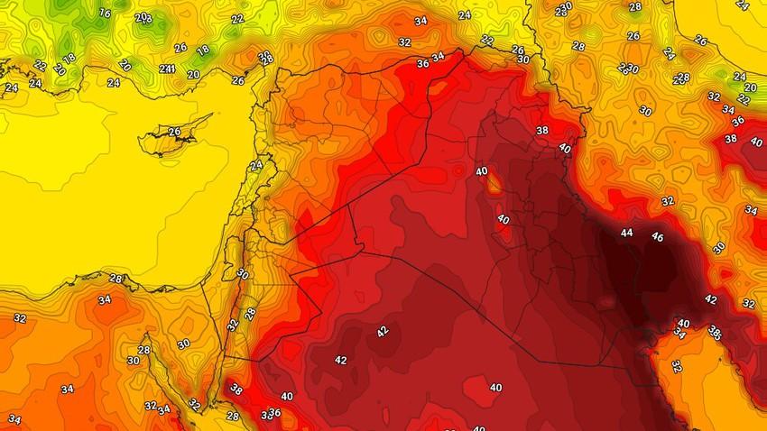 العراق | ارتفاع على درجات الحرارة الإثنين واستمرار التنبيهات من خطر تشكل العواصف الرملية على المناطق الجنوبية