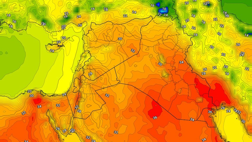 Iraq | Temperatures reach the mid-thirties in the capital, Baghdad, on Wednesday