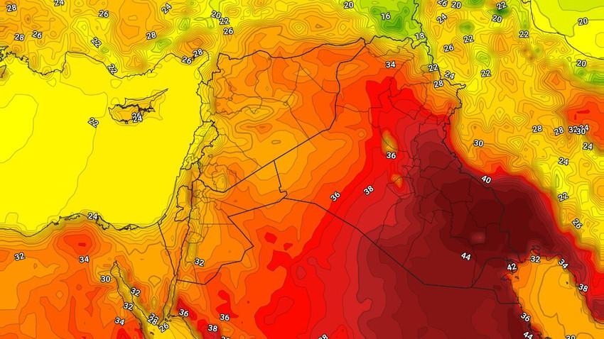 العراق | بقاء درجات الحرارة أعلى من مُعدلاتها الثلاثاء واجواء مُستقرة وحارة