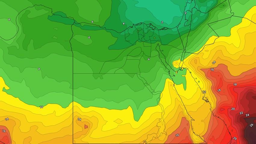 مصر | استمرار تأثر المناطق الشمالية بإمتداد لمُنخفض جوي الجمعة