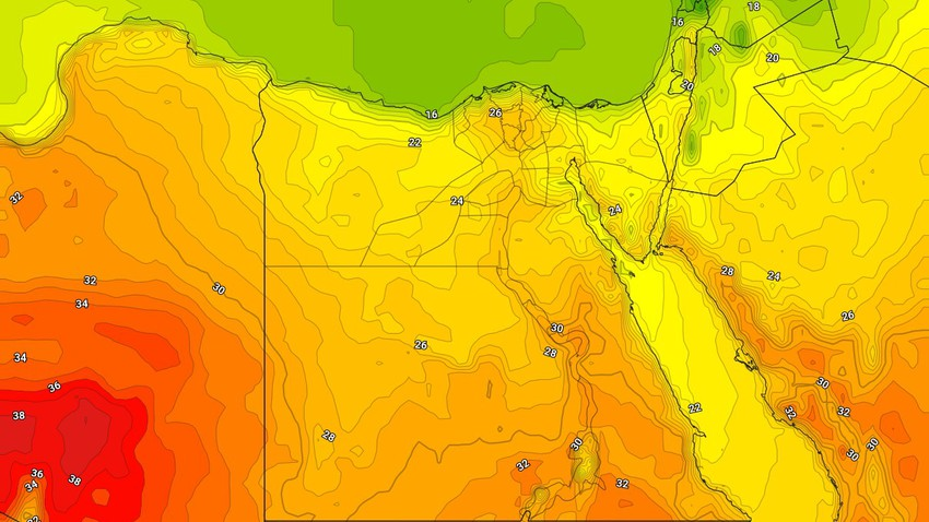 Egypt | An additional rise in temperatures on Tuesday, with the emergence of quantities of clouds at different heights
