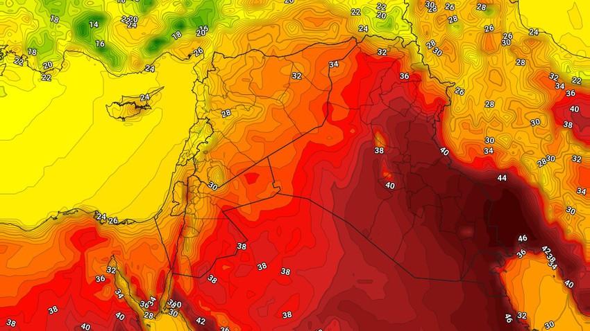 العراق | عودة درجات الحرارة للارتفاع الثلاثاء مع اشتداد لافت في سرعة رياح البوارح