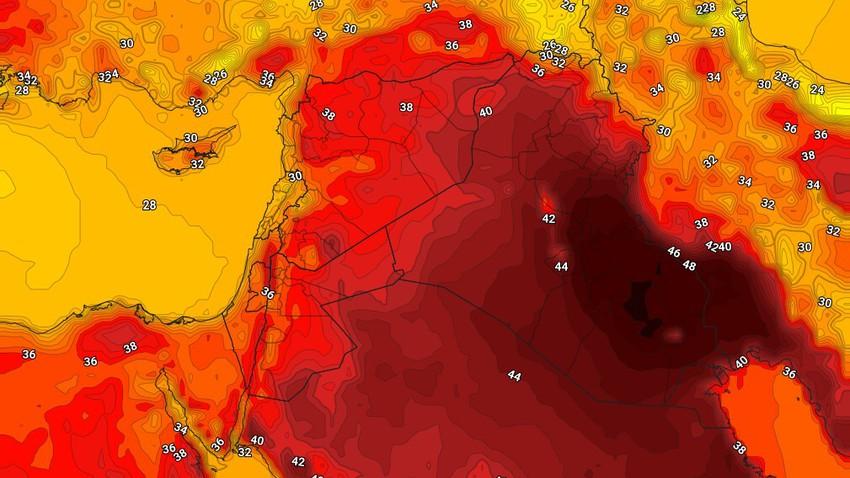 Irak | La météo attendue dans le pays mercredi 25/8/2021