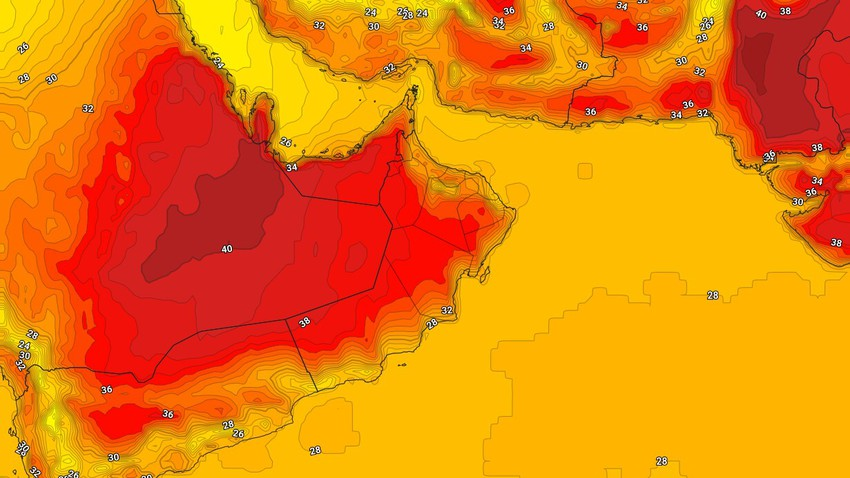 Oman | The continuation of the hot weather and the survival of the opportunities presented by thunderstorms of rain on the Hajar Mountains
