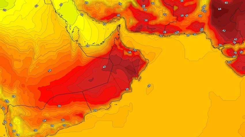 طقس عُمان   ارتفاع على درجات الحرارة الأحد مع ظهور السُحب العالية ببعض المناطق