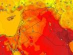 العراق | درجات حرارة اقل من مُعدلاتها مع استمرار نشاط الرياح المُثيرة للأتربة والغُبار الإثنين