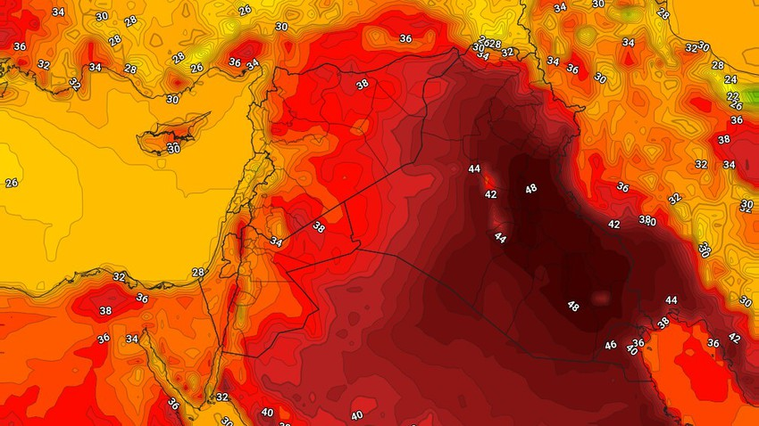 Iraq   Temperatures touch 50 degrees Celsius in some neighborhoods of the capital, Baghdad, on Tuesday
