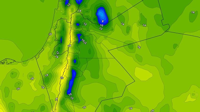 السبت   ارتفاع طفيف على درجات الحرارة واستقرار على الطقس مع بقاءه بارد