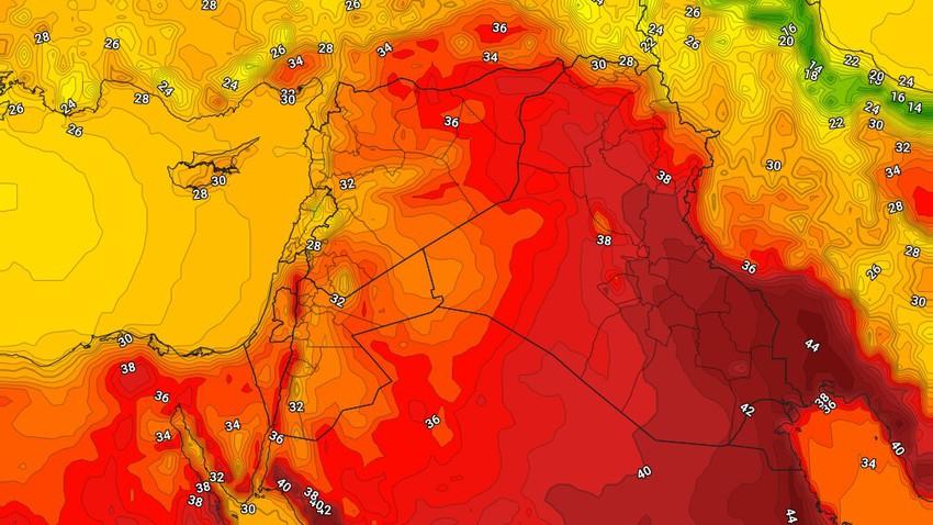 العراق | انخفاض على درجات الحرارة مع استمرار هبوب الرياح الشمالية الغربية نشطة السرعة المسببة للموجات الغُبارية الخميس