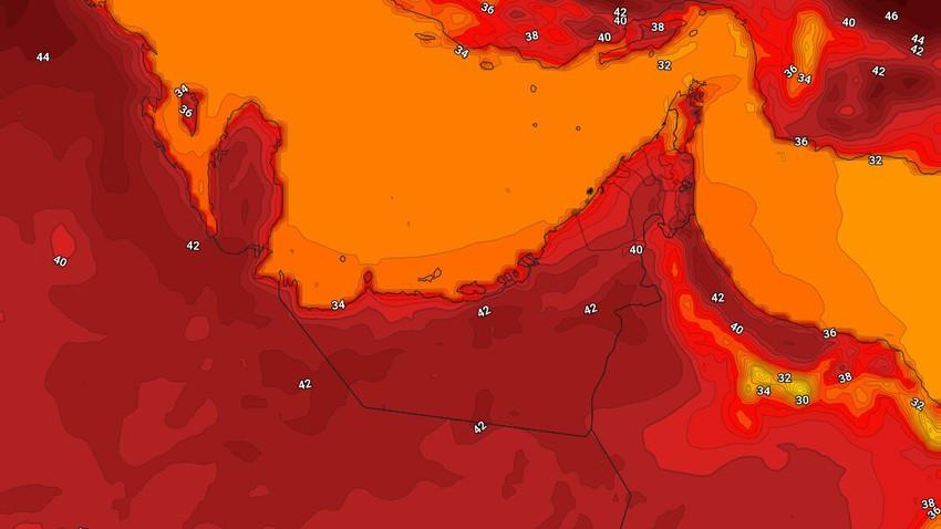 الإمارات   ارتفاع على درجات الحرارة الإثنين واستمرار فرص الأمطار المحلية بشكل عشوائي