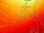 Egypt | An extension of an air depression that affects the northern shores on Thursdays and Fridays