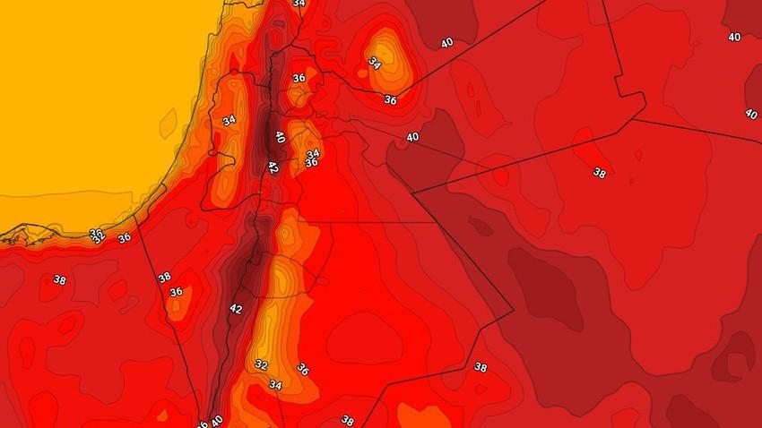 الأردن | بدء تأثر المملكة بالكتلة الهوائية الحارة الثلاثاء وارتفاع إضافي على درجات الحرارة