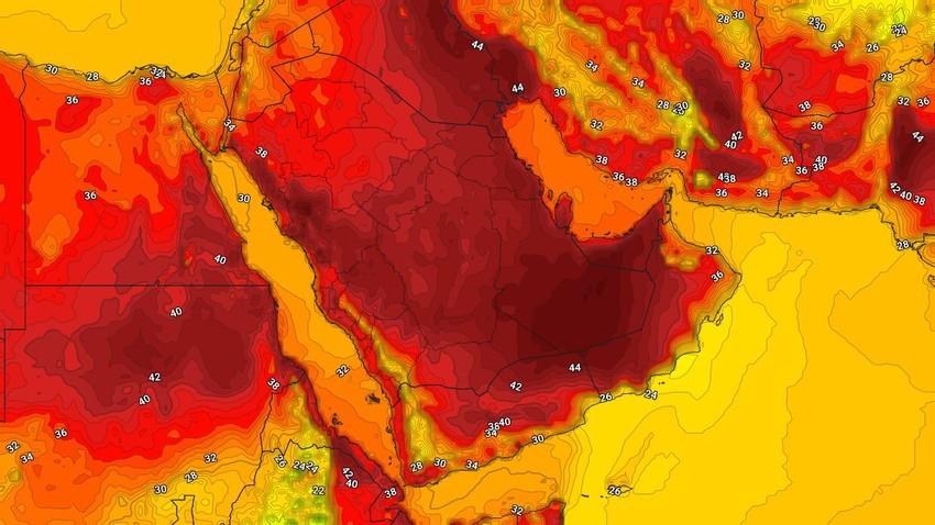 اليمن   إستمرار التكونات للسُحب الرعدية على هذه المناطق يوم الأربعاء
