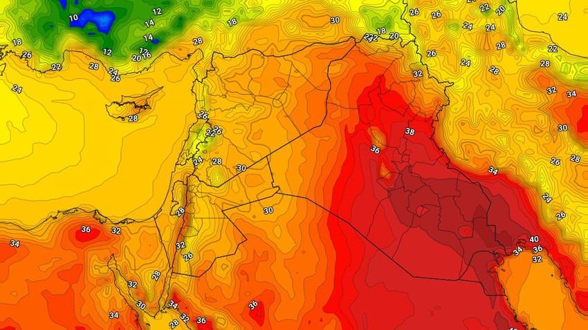 Iraq | An expected rise in temperatures on Thursday 23/9/2021