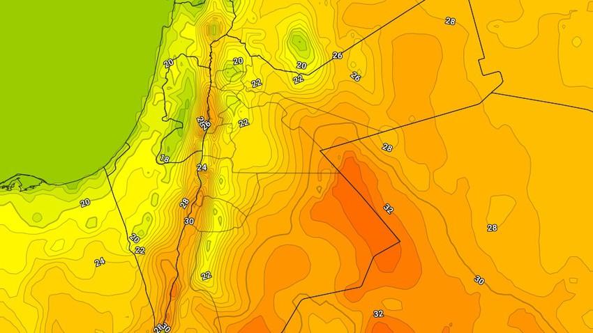 الإثنين | ارتفاع إضافي على درجات الحرارة واجواء دافئة في عموم المناطق