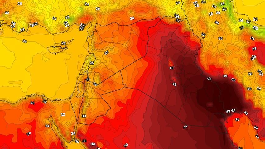 العراق   ارتفاع مُتوقع على درجات الحرارة الثلاثاء
