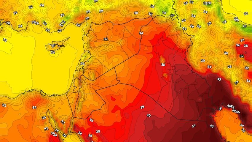 العراق | عودة درجات الحرارة للانخفاض الإثنين لتصبح اقل من مُعدلاتها
