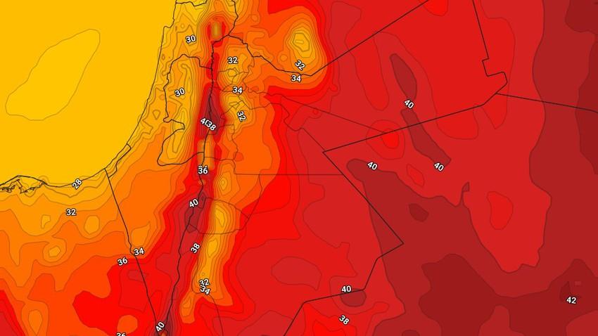 الأثنين   إنخفاض على درجات الحرارة وطقس حار نسبيًا نهاراً ومعتدل إلى لطيف ليلاً