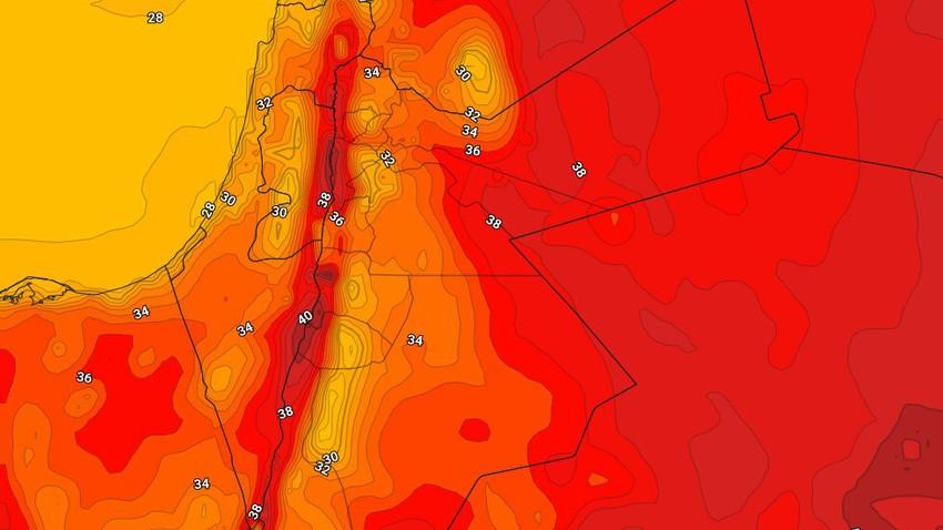 الاردن   طقس صيفي إعتيادي إلى حار نسبياً في العديد من المناطق الخميس