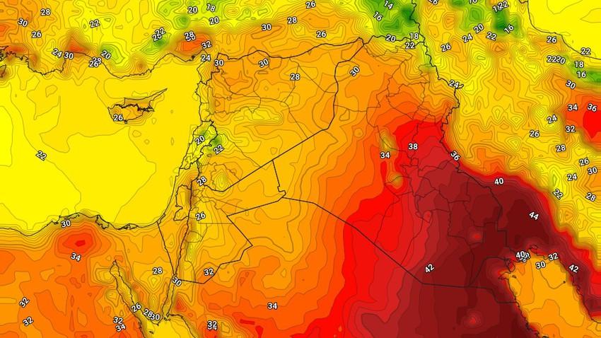 الكويت | درجات الحرارة حول مُعدلاتها الإثنين مع ظهور السُحب المُتوسطة والعالية