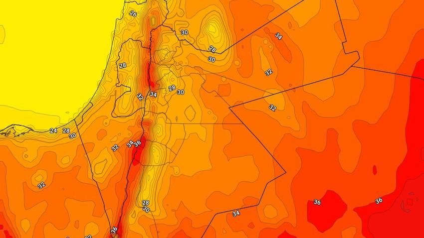الأردن | ارتفاع قليل على درجات الحرارة الأحد