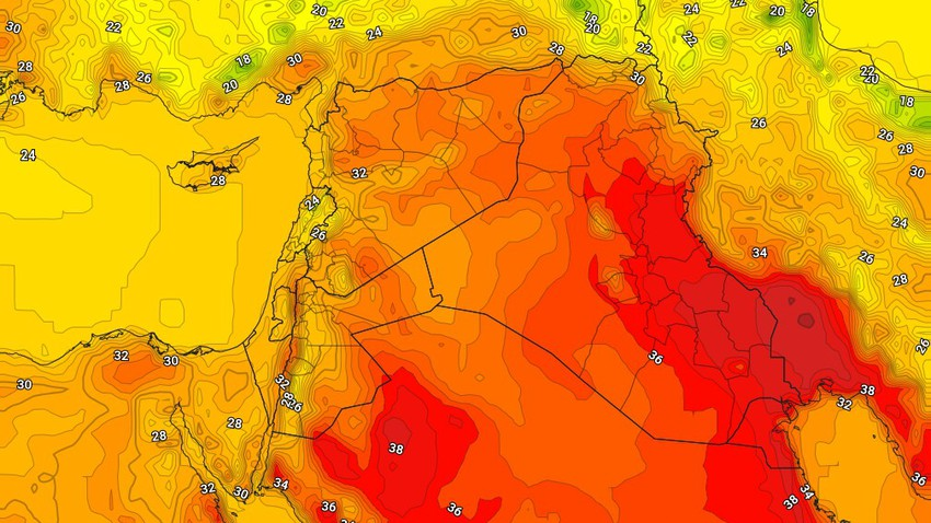 Iraq | Temperatures return to rise Monday as dusty and dusty winds continue to operate