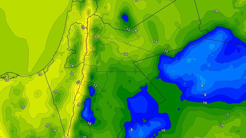 الاربعاء | تراجع على الرياح الشرقية واستمرار فرص هطول الأمطار في اجزاء من جنوب وشرق المملكة