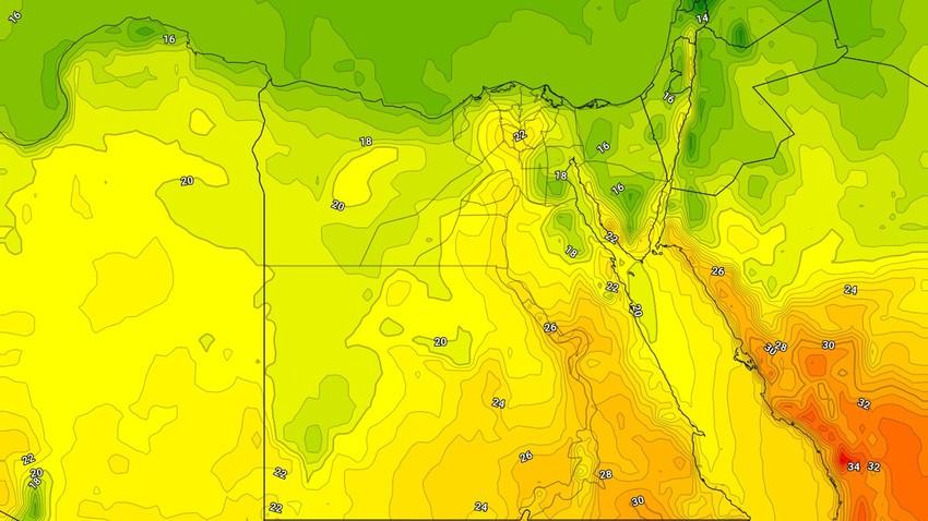 طقس مصر | نشاط مُتوقع للرياح الشمالية على قناة السويس وشواطئ البحر الأحمر الأحد