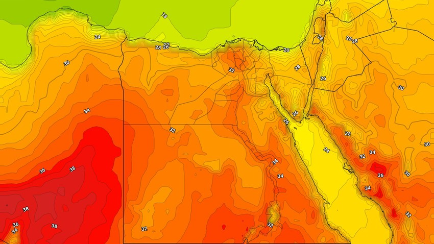 Egypt | Relatively hot weather in most regions on Thursday