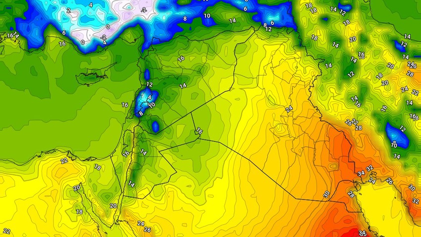 Iraq | A significant drop in Sunday temperatures, while the chances of rain remain available in some areas