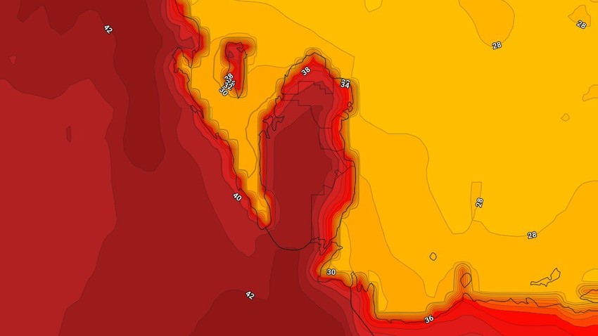 Bahrain   Temperatures are around below their average for this time of year on Tuesday