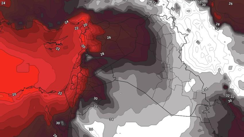 العراق | إستمرار تأثير الكتلة الهوائية شديدة الحرارة ثاني ايام العيد
