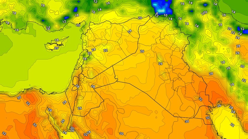 Iraq | Relatively hot weather in the capital, Baghdad, Thursday