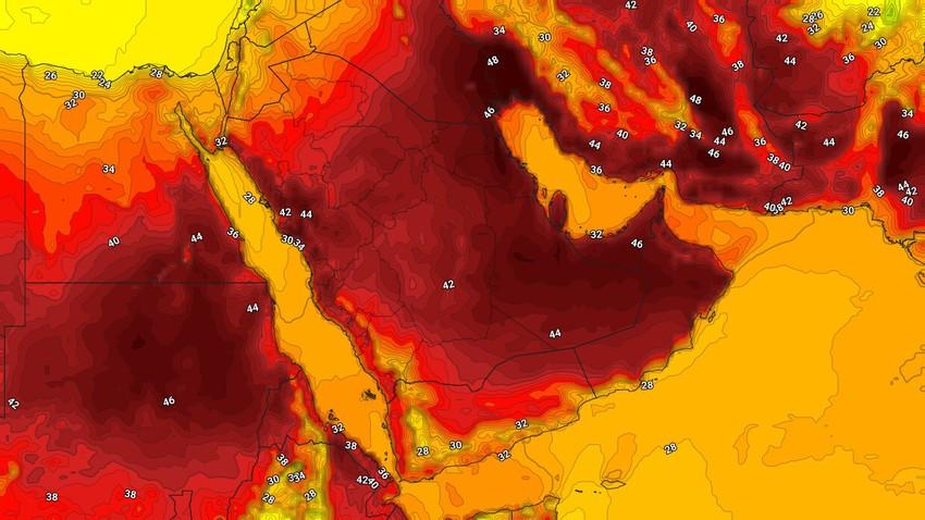 السعودية   أجواء شديدة الحرارة وفرص زخات أمطار رعدية على أجزاء من غرب المملكة الأربعاء