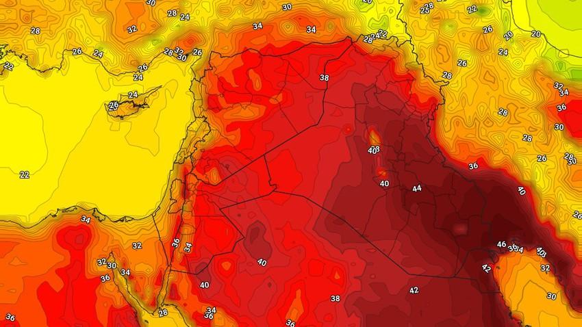 العراق | ارتفاع على درجات الحرارة واشتداد حدة الاجواء الحارة الخميس